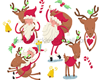 Funky Christmas Illustrations for 2016