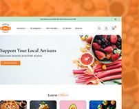 Food Store Template | FREE Figma