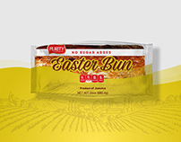 Purity No Sugar Added Easter Bun Packaging Design