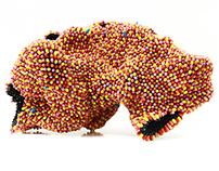 """""""Disease"""" pills sculpture. 9500 empty capsules."""