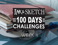 Week 11 of #The100DayProject ink and sketch challenge!