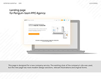 Landing page for Penguin-team PPC Agency