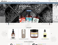 Davines E-Commerce Homepage - Mobile, Tablet & Desktop