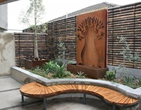 Outdoor hardscaping design