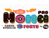 La Mona Pro / 72 fonts / Cyrillic+Greek