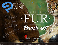 Realistic FUR Brushes for CLIP STUDIO PAINT