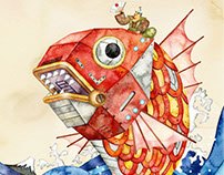 Japanese luck of the machine of the sea bream