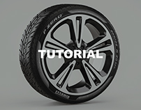 Creating tire-wheel materials