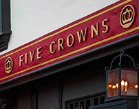 Five Crowns Restaurant Logo and Identity