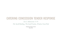 Visitor attraction catering response