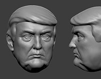 Donald Trump. 3D-print-ready model