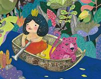 森林與濕地的一場劇:亞馬遜雨林的怪獸/ 活動視覺設計