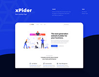 xPider - Saas Landing Page