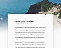 Daily UI | #035 | Blog Post