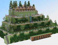 Architectural 3D Rendering of a Property Retaining Wall