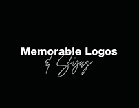 Memorable logos and signs