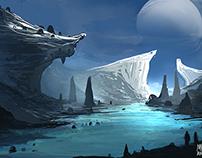 The Entrance to Frozen Mountains