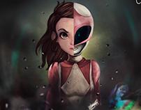 Pink Ranger Pintura digital