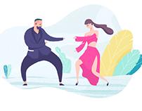 Dances of Monatik and Nadya Dorofeeva.