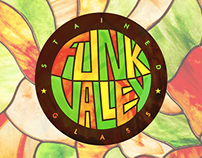 Funk Valley Stained Glass Logo Design