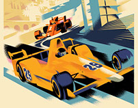 McLaren Poster Illustration