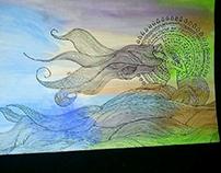 Ilustración  tradicional (acuarelas sobre lienzo)