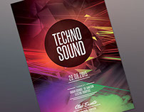 Techno Sound Flyer