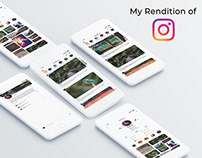 Rendition of Instagram UI