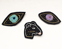 Hand made embroidered patches