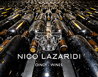 Nico Lazaridi Wines graphic design