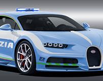Bugatti Chiron Polizia di Stato
