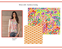 Digitally printed textile designs for women's fashion