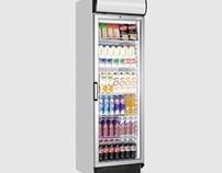 Tefcold FSC1380 Glass Door Merchandiser - 372 Ltr Fridg