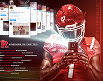 "Rutgers ""Follow Coaches Twitter Pages"" Graphic"