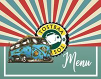 Tostbaa Cafe Menu -Menü Tasarımı
