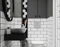 klasyczna, biało-czarna toaleta