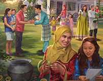 Commercial illustration AmBank Hari Raya
