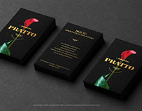 Three Black Vertical Business Cards Stacks Mockup