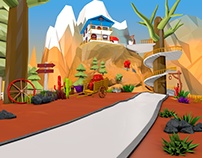 Landscape - 3D Model,3D Renderings