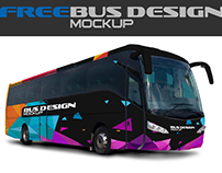 Free Mock-up Bus Design