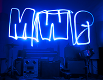 Light painting photo shoot for MWP album cover.