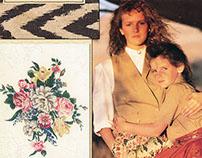 Classic Floral Textile Design