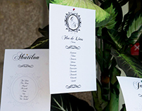 Design for Weddings // List of tables and table tags