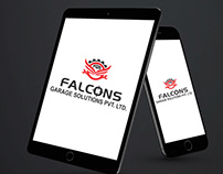 Falcons Garage Solution pvt ltd Logo Design