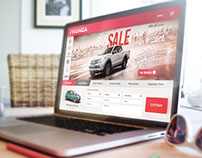 Fronza Car Dealer Website Re-Design