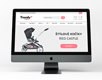 Web design e-shop Trendy mama