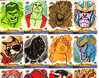 Avengers : Infinity War Sketch Cards