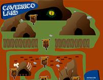 Infografía de parque cavernícola