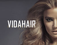 VIDAHAIR restyling brand and packaging