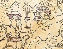 Hulk vs Wolverine (Ver. Andina Siglo XVI)
